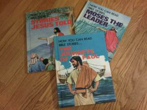 Retro Bible story books