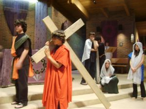 St. Clement students present Stations of the Cross, 2009.