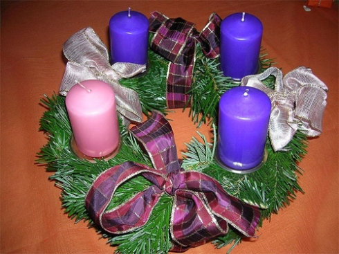 Advent wreath. Image by Andrea Schaufler.